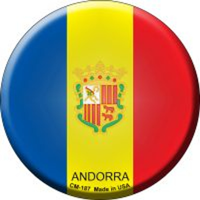 Andorra Country Novelty Metal Mini Circle Magnet CM-187