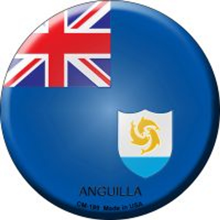 Anguilla Country Novelty Metal Mini Circle Magnet CM-189