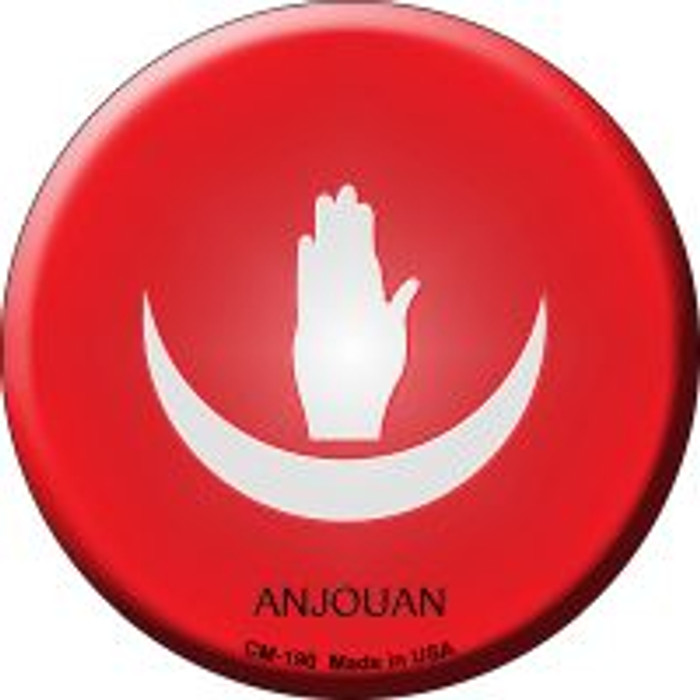 Anjouan Country Novelty Metal Mini Circle Magnet CM-190