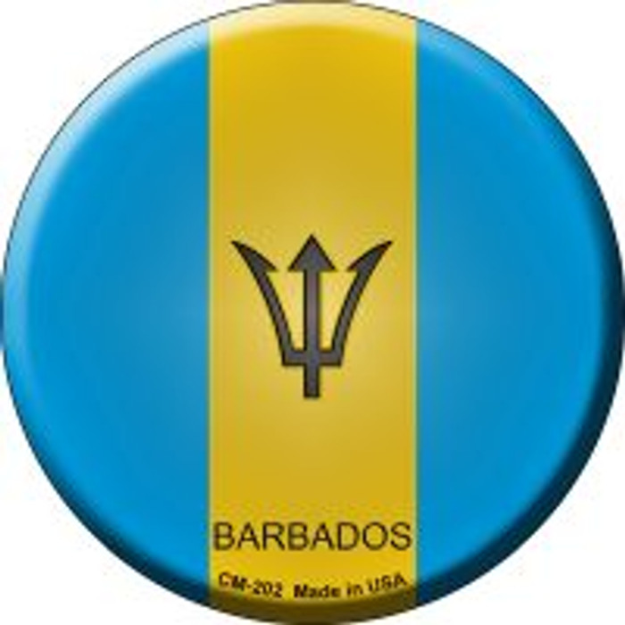 Barbados Country Novelty Metal Mini Circle Magnet CM-202