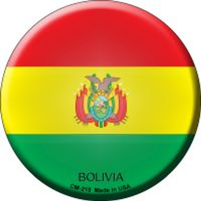 Bolivia Country Novelty Metal Mini Circle Magnet CM-210