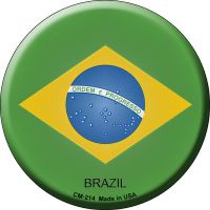 Brazil Country Novelty Metal Mini Circle Magnet CM-214