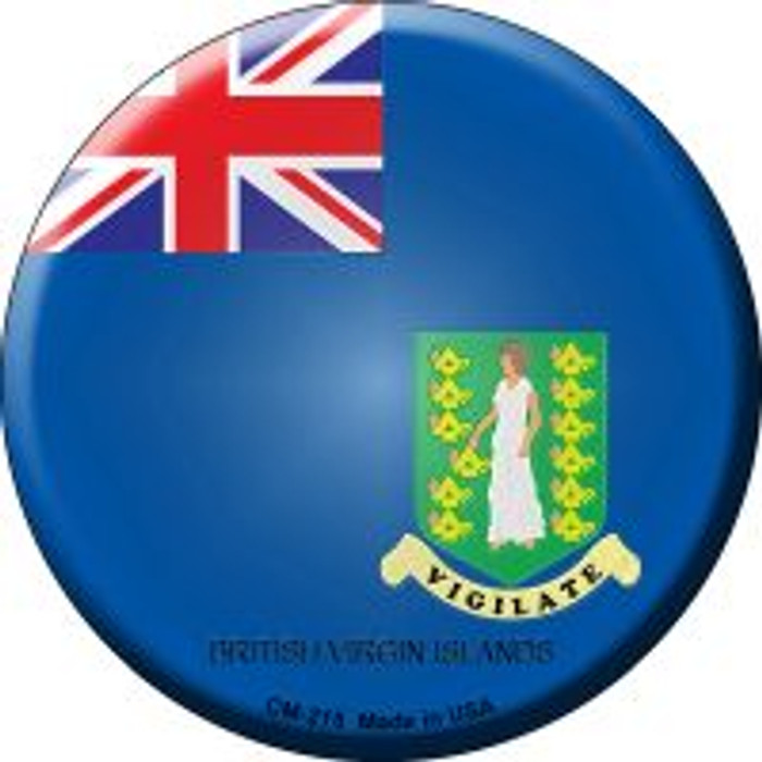 British Virgin Islands Country Novelty Metal Mini Circle Magnet CM-215