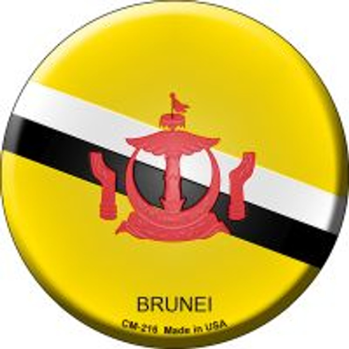 Brunei Country Novelty Metal Mini Circle Magnet CM-216
