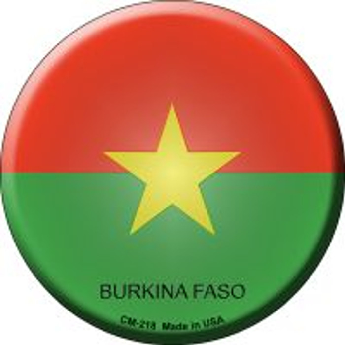 Burkina Faso Country Novelty Metal Mini Circle Magnet CM-218