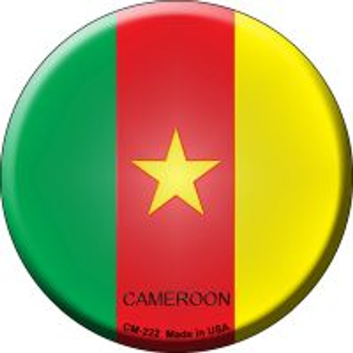 Cameroon Country Novelty Metal Mini Circle Magnet CM-222
