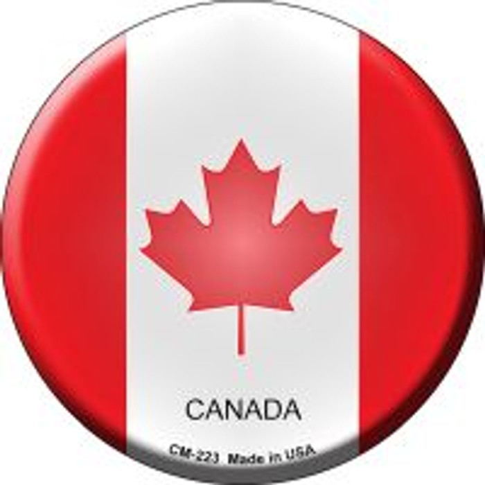 Canada Country Novelty Metal Mini Circle Magnet CM-223