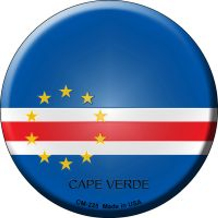 Cape Verde Country Novelty Metal Mini Circle Magnet CM-225