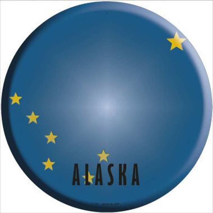 Alaska State Flag Metal Circular Sign