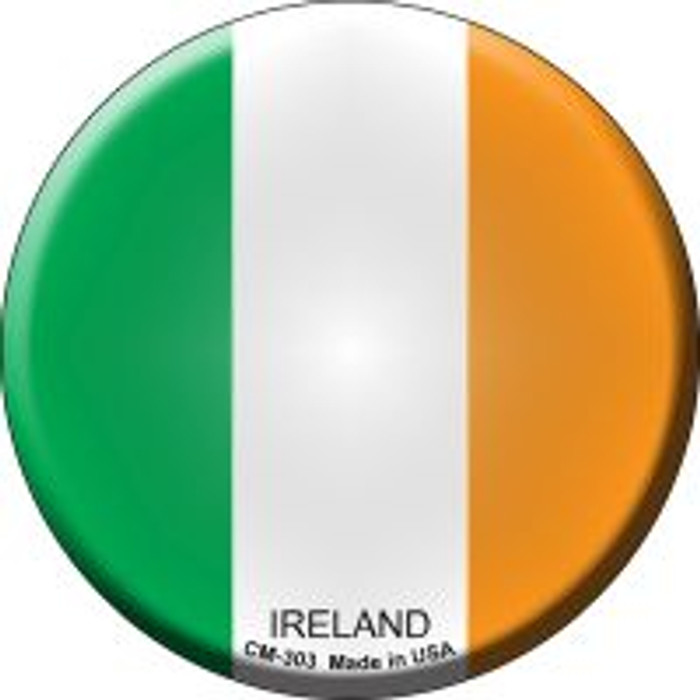 Ireland Country Novelty Metal Mini Circle Magnet CM-303