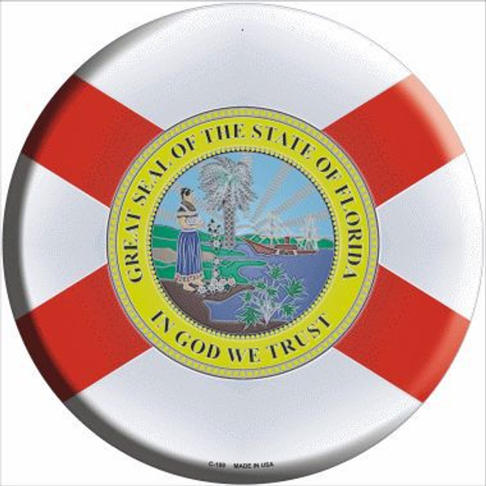 Florida State Flag Metal Circular Sign