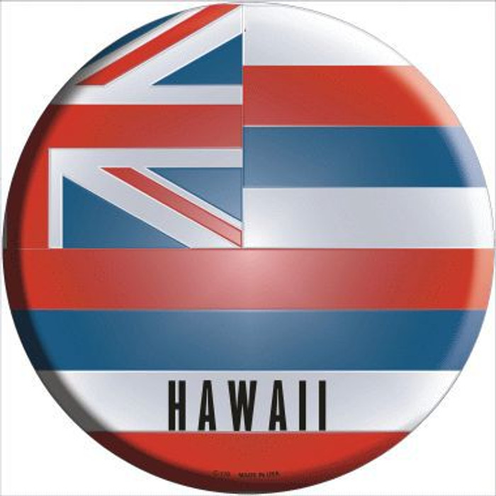 Hawaii State Flag Metal Circular Sign