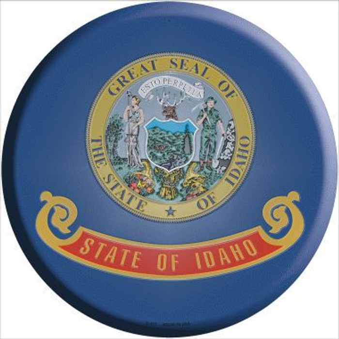 Idaho State Flag Metal Circular Sign