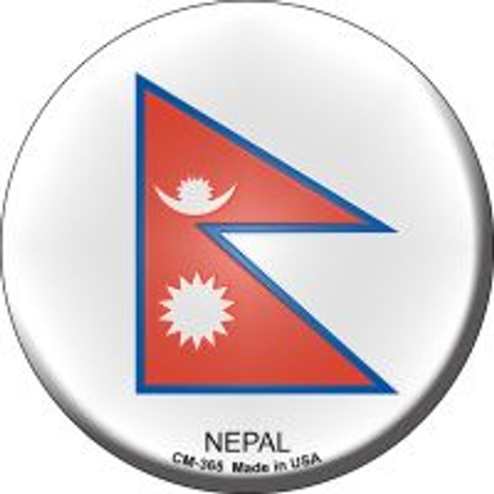Nepal Country Novelty Metal Mini Circle Magnet CM-365