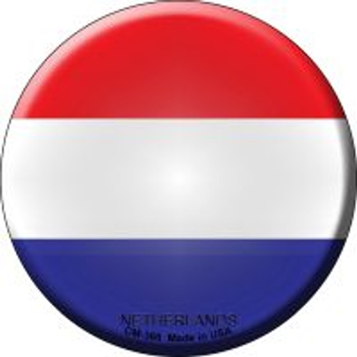 Netherlands Country Novelty Metal Mini Circle Magnet CM-366