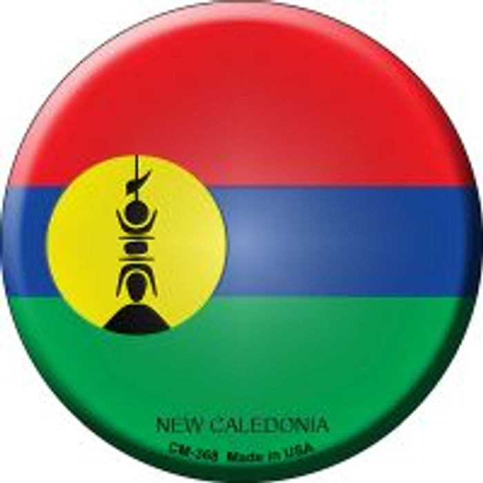 New Caledonia Country Novelty Metal Mini Circle Magnet CM-368