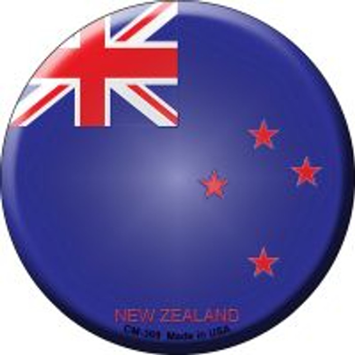 New Zealand Country Novelty Metal Mini Circle Magnet CM-369