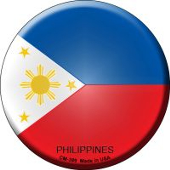 Philippines Country Novelty Metal Mini Circle Magnet CM-389