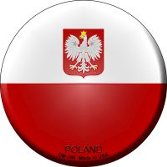 Poland Country Novelty Metal Mini Circle Magnet CM-390