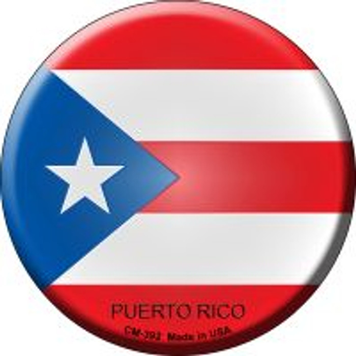 Puerto Rico Country Novelty Metal Mini Circle Magnet CM-392