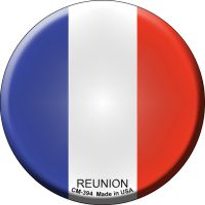 Reunion Country Novelty Metal Mini Circle Magnet CM-394
