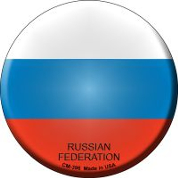 Russian Federation Country Novelty Metal Mini Circle Magnet CM-396
