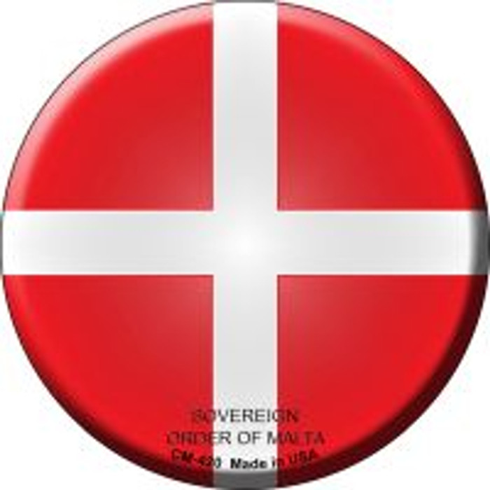 Sovereign Order of Malta Country Novelty Metal Mini Circle Magnet CM-420