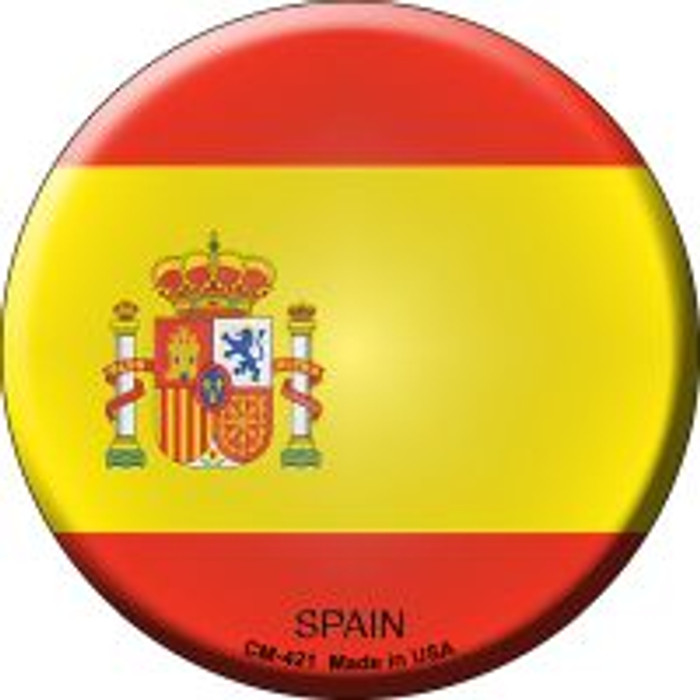 Spain Country Novelty Metal Mini Circle Magnet CM-421