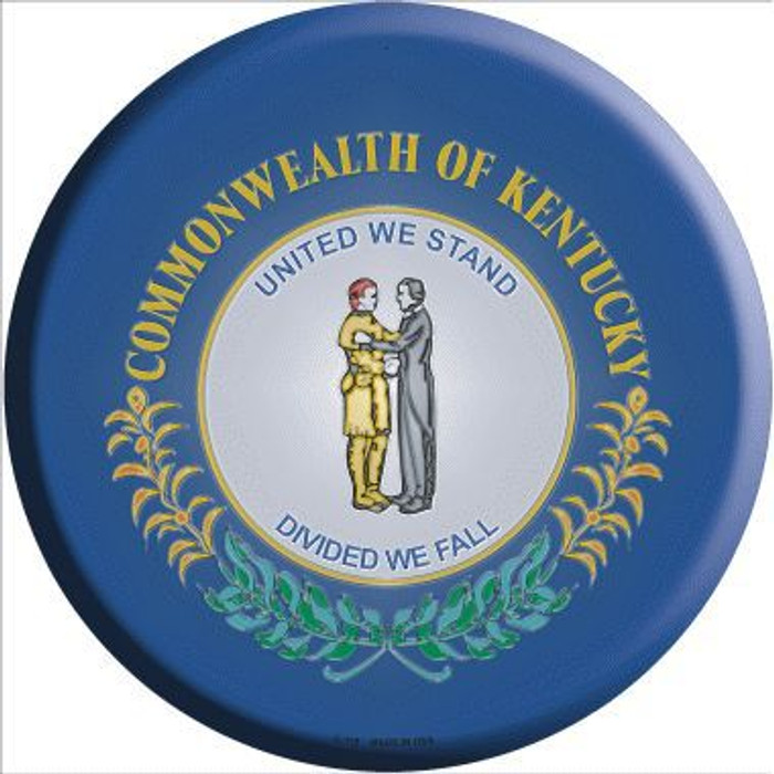 Kentucky State Flag Metal Circular Sign