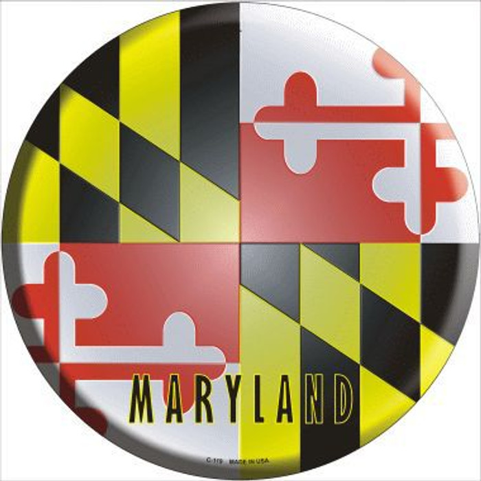 Maryland State Flag Metal Circular Sign