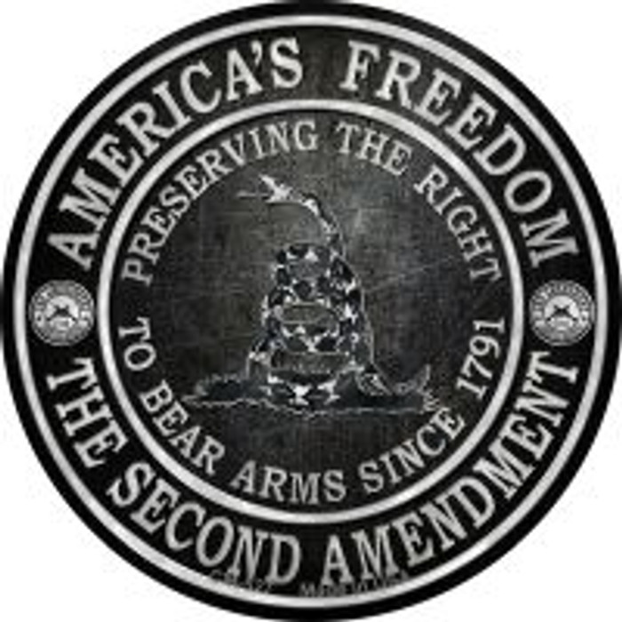Americas Freedom Novelty Metal Mini Circle Magnet CM-527