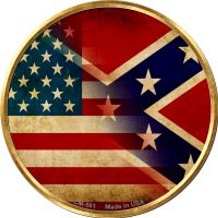 American Confederate Flag Novelty Metal Mini Circle Magnet CM-561