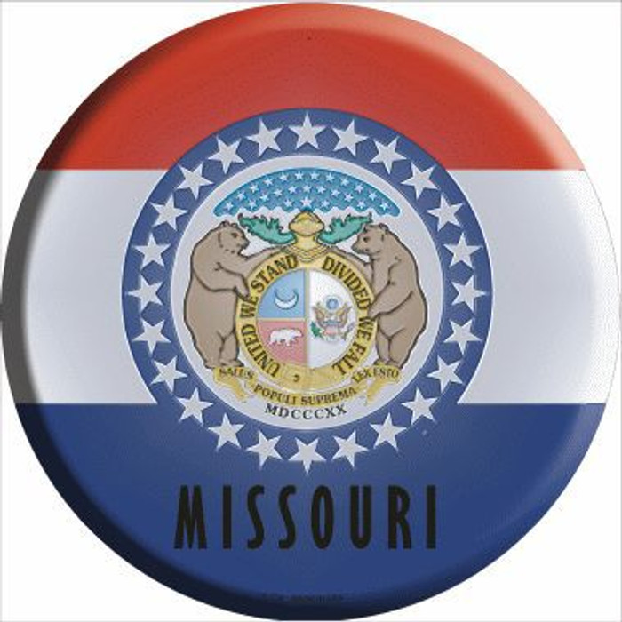 Missouri State Flag Metal Circular Sign