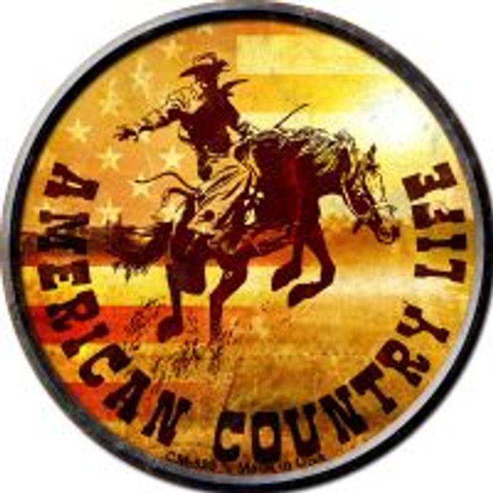 American Country Life Novelty Metal Mini Circle Magnet CM-583