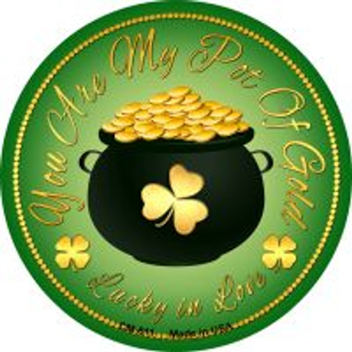 You Are My Pot Of Gold Novelty Metal Mini Circle Magnet CM-611