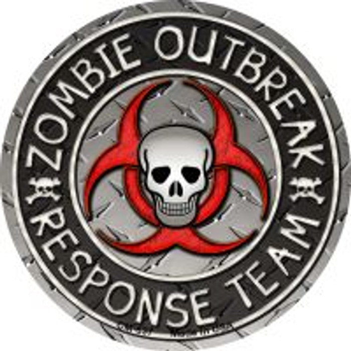Zombie Outbreak Novelty Metal Mini Circle Magnet CM-637