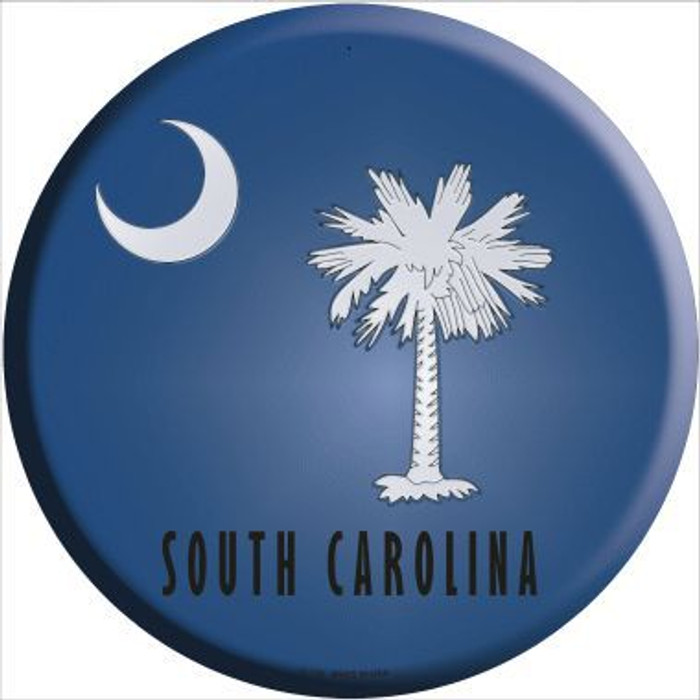 South Carolina State Flag Metal Circular Sign