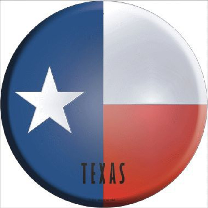 Texas State Flag Metal Circular Sign