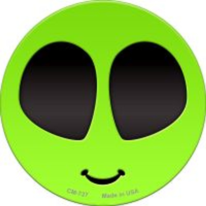 Alien Smile Face Novelty Metal Mini Circle Magnet CM-727