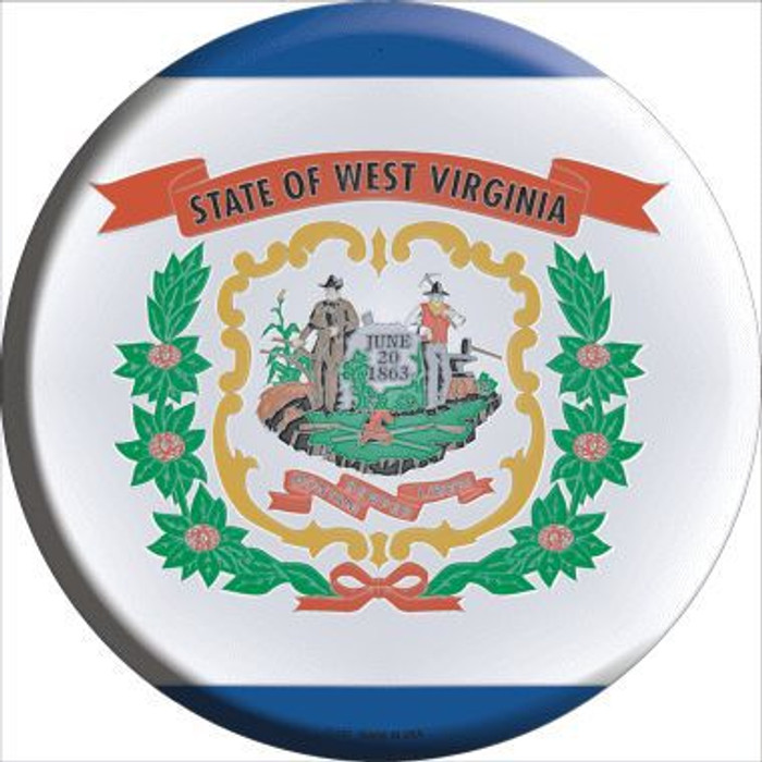 West Virginia State Flag Metal Circular Sign