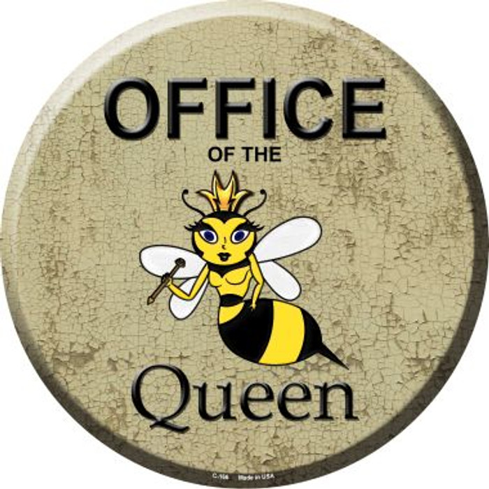 Office of the Queen Metal Circular Sign C-166