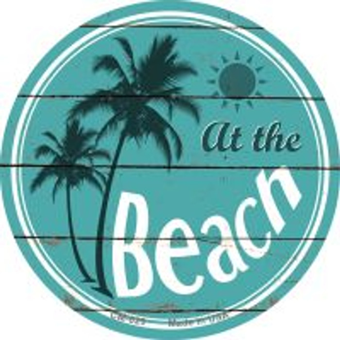 At The Beach Novelty Metal Mini Circle Magnet CM-829
