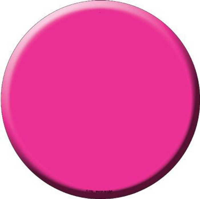 Pink Novelty Metal Circular Sign C-152