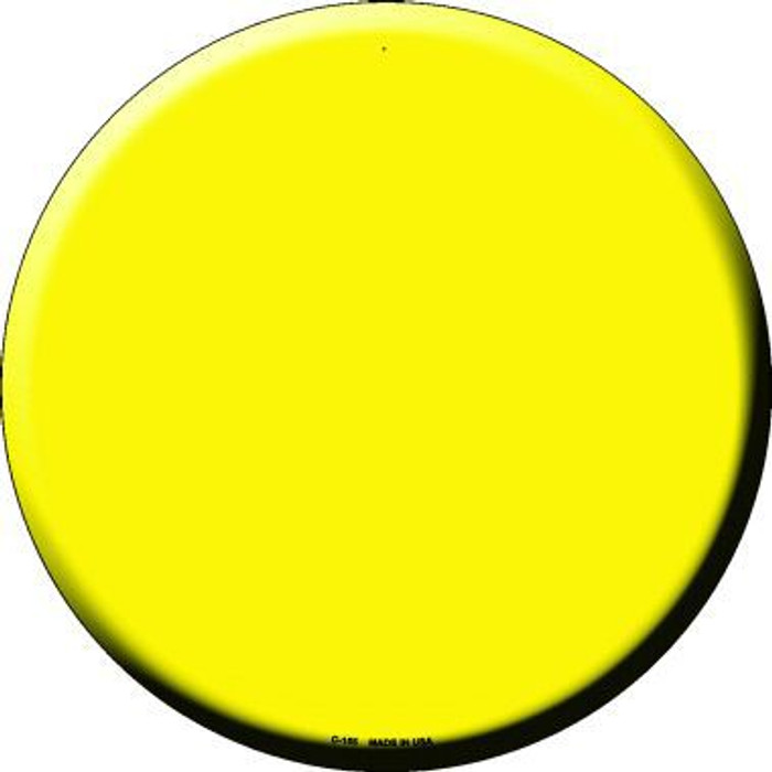 Yellow Novelty Metal Circular Sign