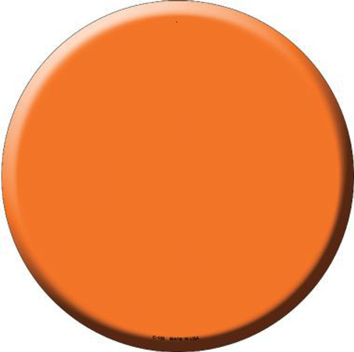 Orange Novelty Metal Circular Sign