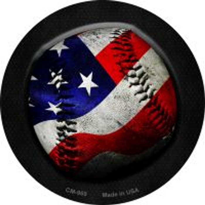 American Baseball Novelty Metal Mini Circle Magnet CM-969