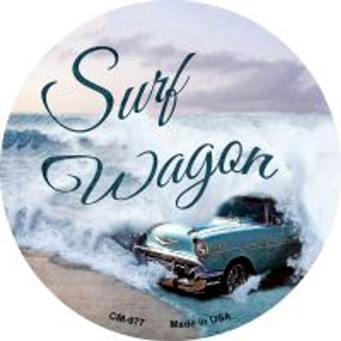 Surf Wagon Novelty Metal Mini Circle Magnet CM-977