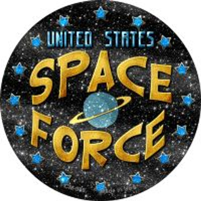 US Space Force Novelty Metal Mini Circle Magnet CM-986