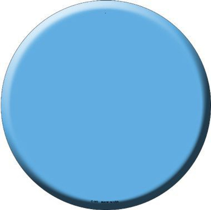 Light Blue Novelty Metal Circular Sign C-161
