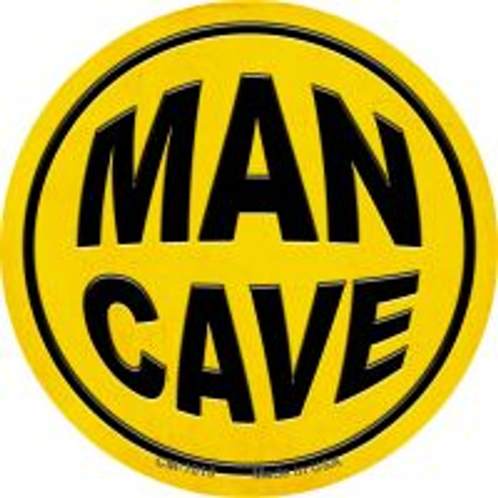 Man Cave Novelty Metal Mini Circle Magnet CM-1010
